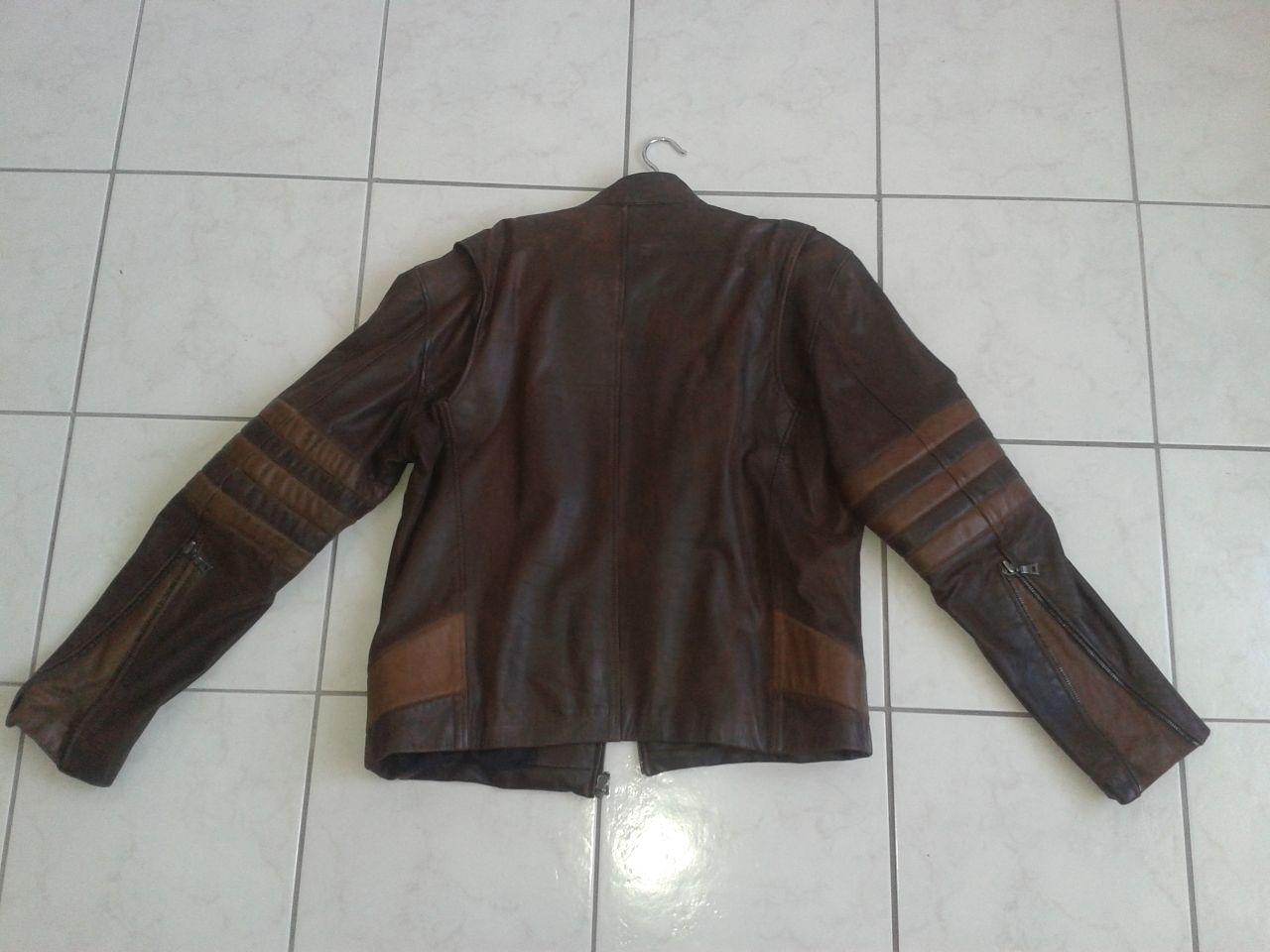 Leather jacket yellow stripe - Image Jacket 2 W Yellow Stripes