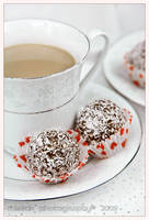 Rum ball with coffee by shatinn