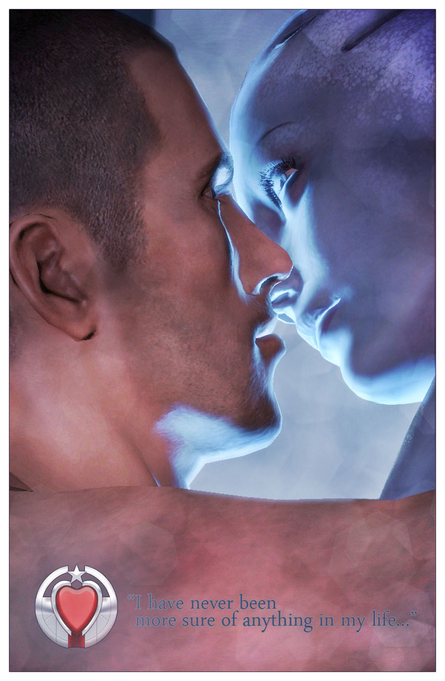 Shepard and Liara by shatinn