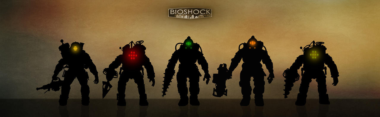 Bioshock - silhouettes and glows by shatinn on DeviantArt