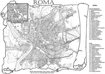 Commission: Map of Rome by StefanoMarinetti
