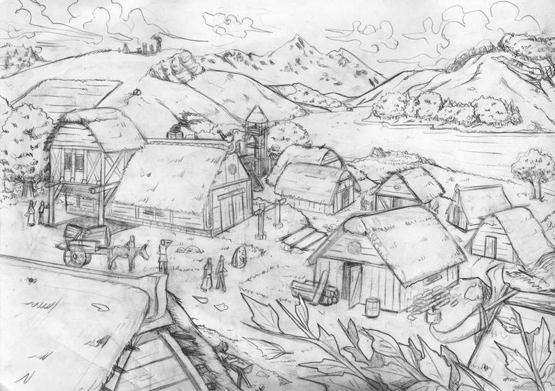 Sketch Village By StefanoMarinetti On DeviantArt
