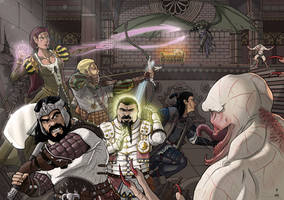 Commission: Pathfinder - Battle by StefanoMarinetti