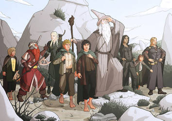 Commission: The Lord of the rings by StefanoMarinetti