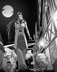 Commission: walking vampire