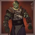 Commission: Half-orc Monk