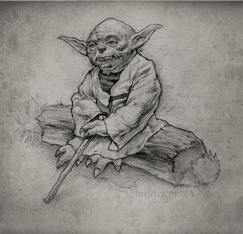 Line Art Yoda : Yoda sketch pixshark images galleries with a bite