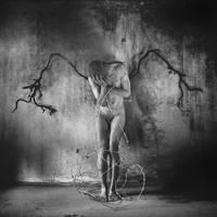 an Auschwitz-Birkenau angel by xHIMSOULSx