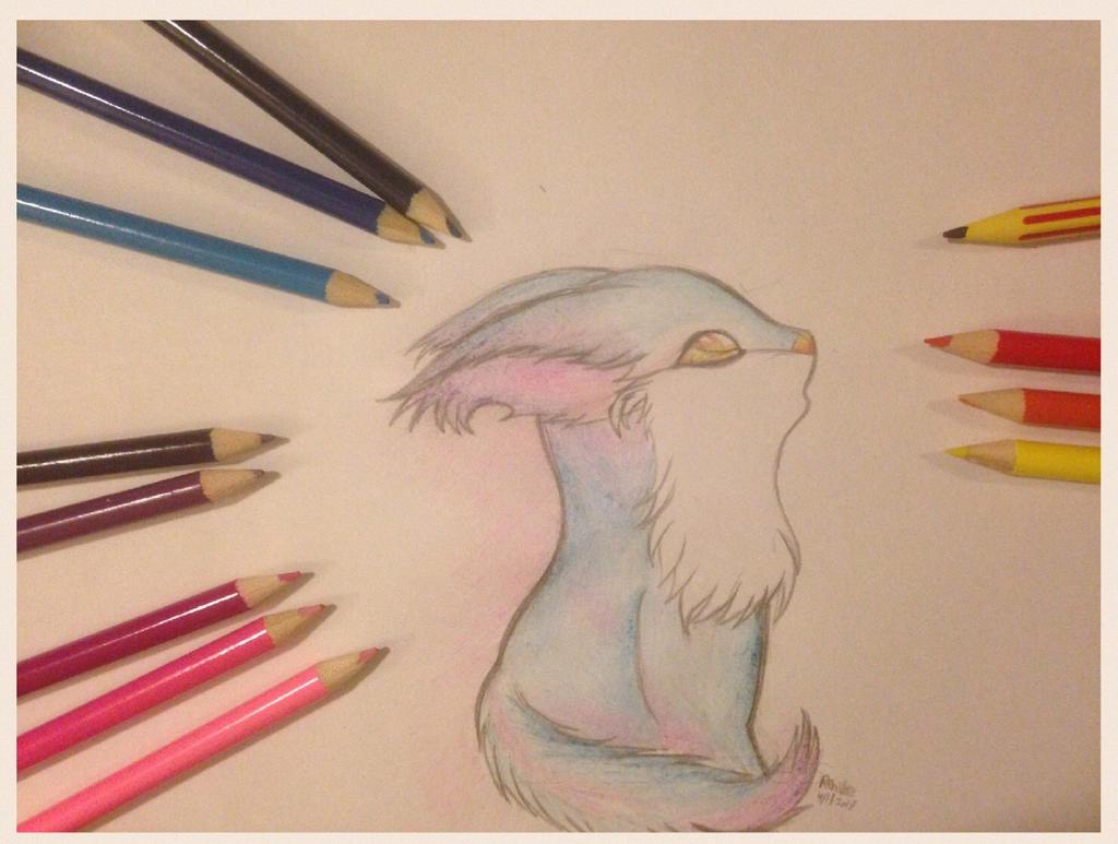 Little blue fox by VliegendeFiets
