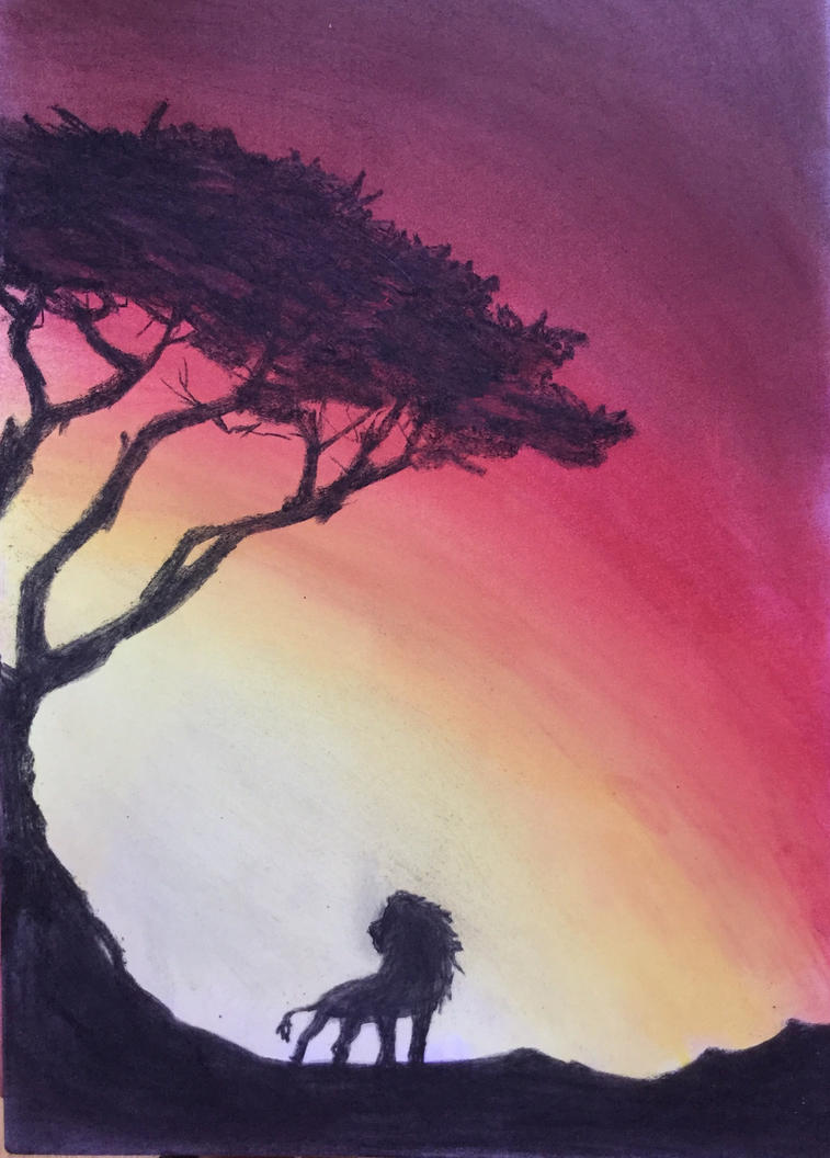 Pastels lion by VliegendeFiets