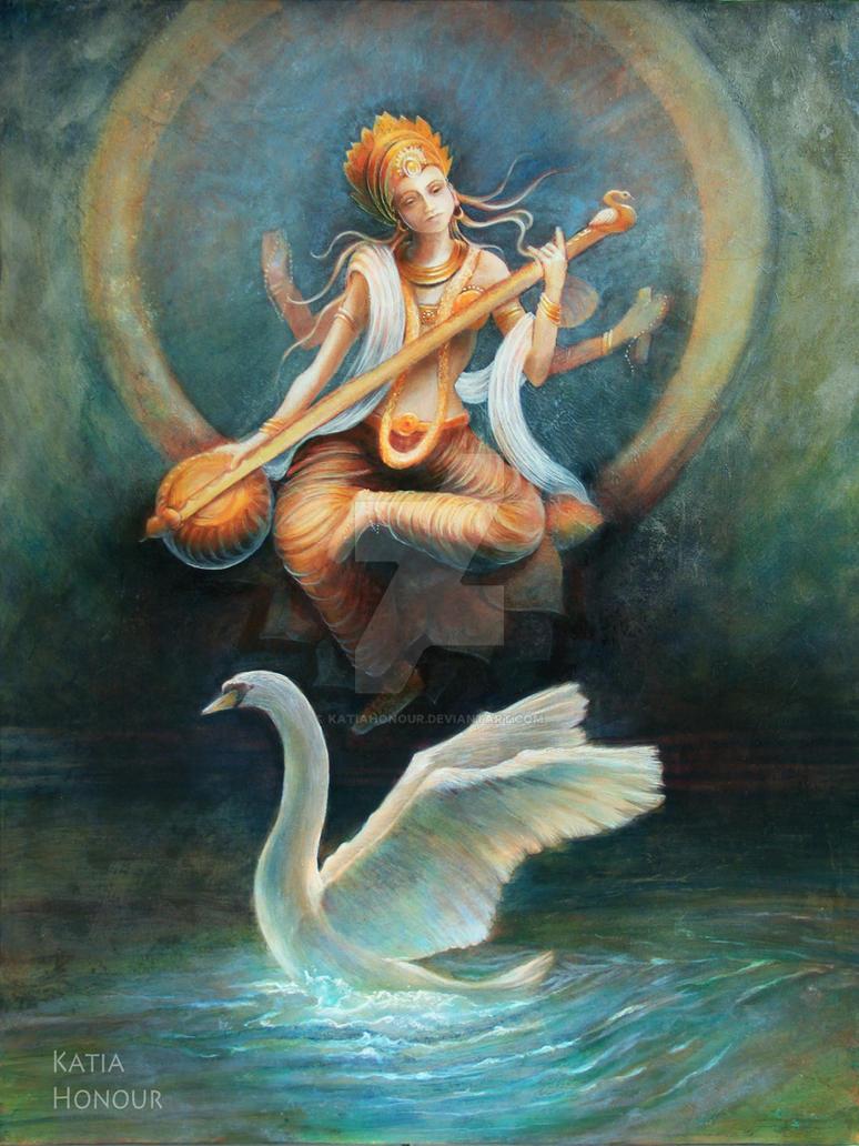 Saraswati by KatiaHonour