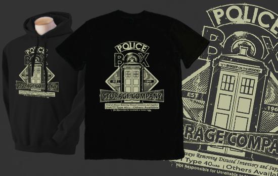 Police Box Storage Company Shirt by Magmakensuke
