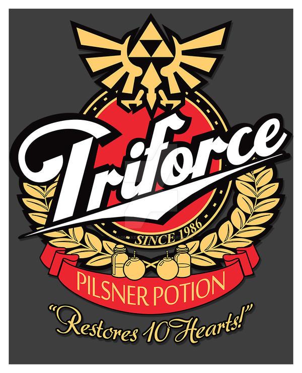 Triforce Pilsner Potion Print by Magmakensuke