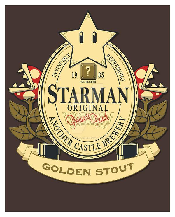 Starman Original Golden Stout Print by Magmakensuke