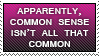 Common Sense Stamp by LShepherd