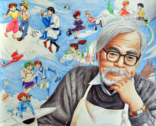 Hayao Miyazaki by shycatgirl