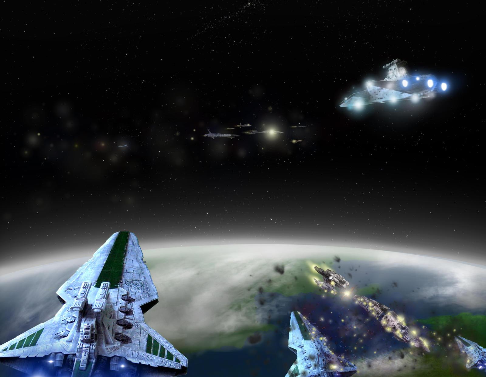 star wars space battle image