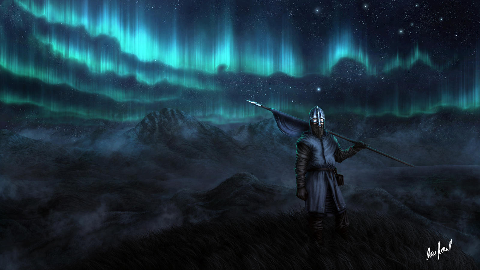 Aurora Borealis by LordDoomhammer