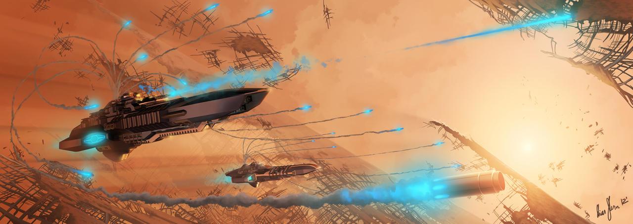 Derelict Battle by LordDoomhammer