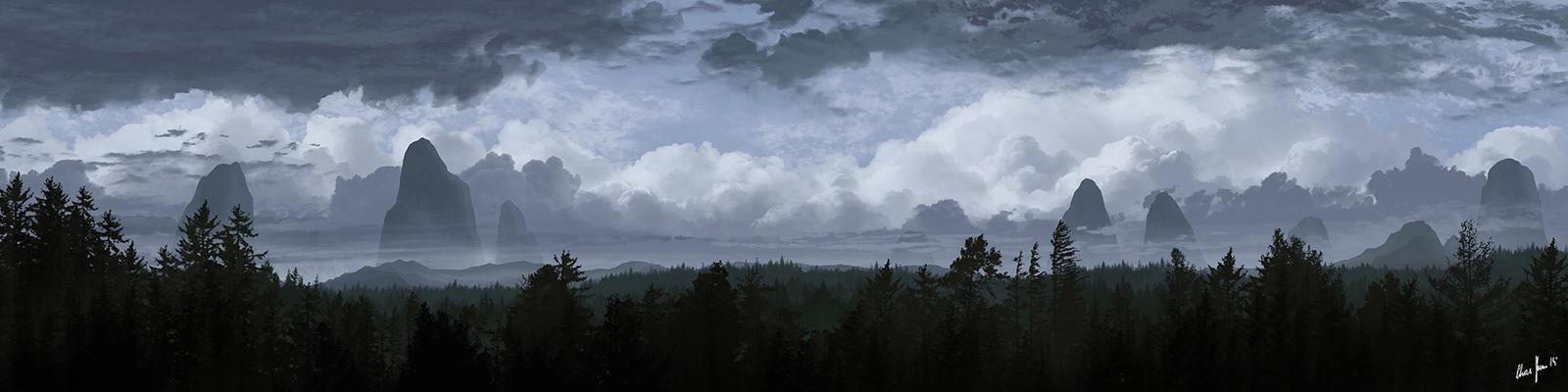 Dark Clouds 02 by LordDoomhammer