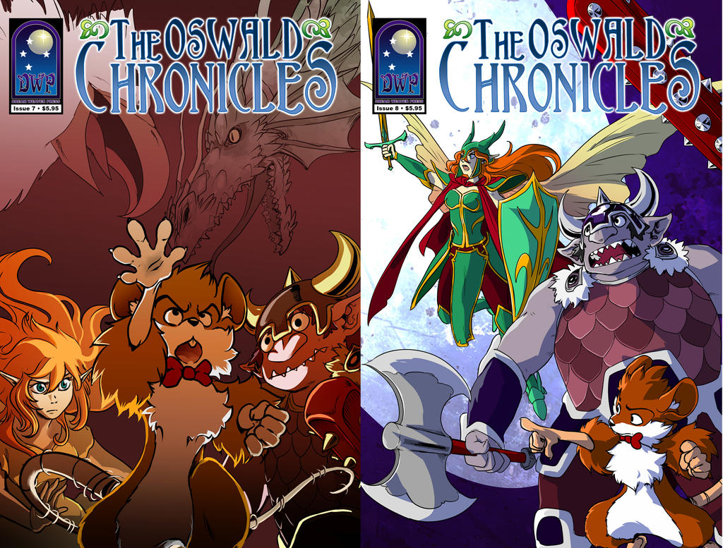 Both covers by TheOswaldChronicles