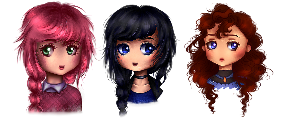 Chibi commissions examples by VinogronQ