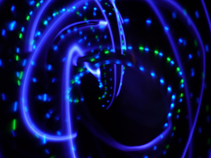 Blue Lights 2 by Cecilia-Schmitt