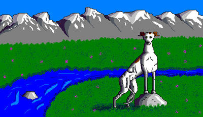'Scenic Greyhound' in MS Paint by Cecilia-Schmitt