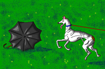 'Scared Greyhound' in MS Paint by Cecilia-Schmitt