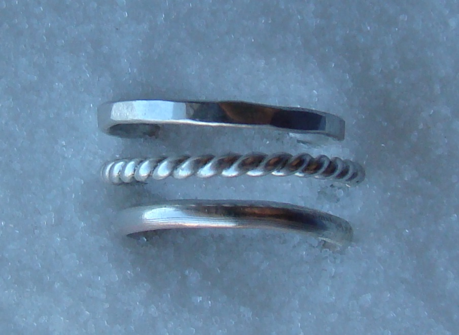 Sterling Silver Rings With Thumb Prints