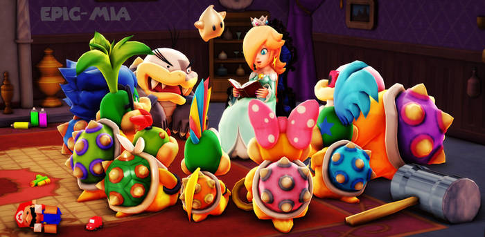 Rosalina and the Koopalings