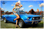 Ford Mustang 1967 Acapulco Blue Lines