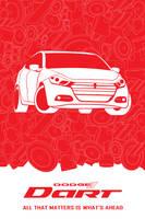 Dodge Dart in Red and White by garasidebu