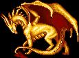 Tales of Ostlea: Golden Avari Dragon by Spatialfangs
