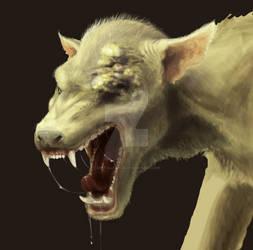 Werewolf (WIP painting)