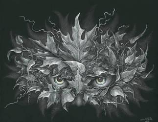 Masquerade - Green Man by AndreaWidgetArt