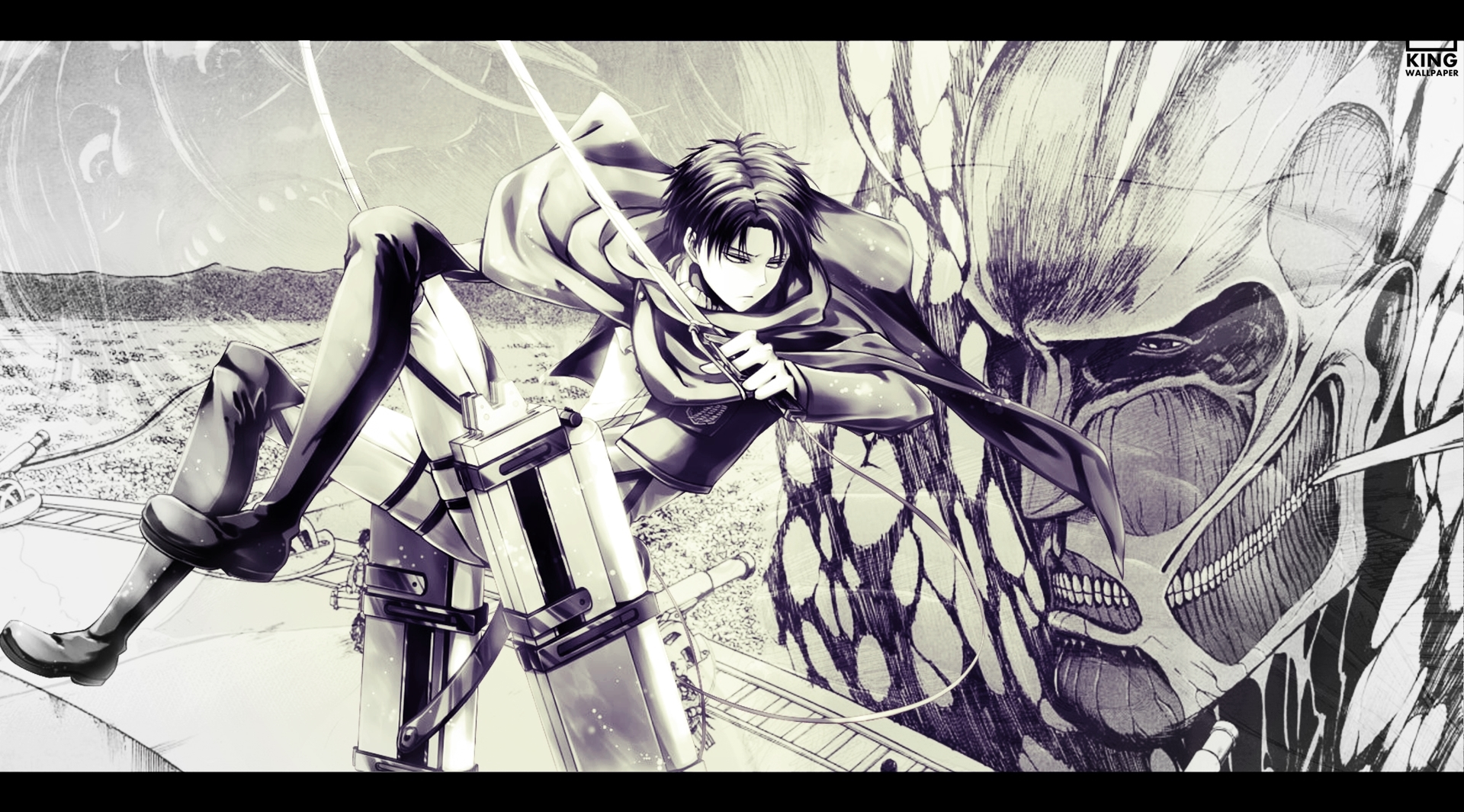 SHINGEKI NO KYOJIN - NO COLOR - Wallpaper - LEVI