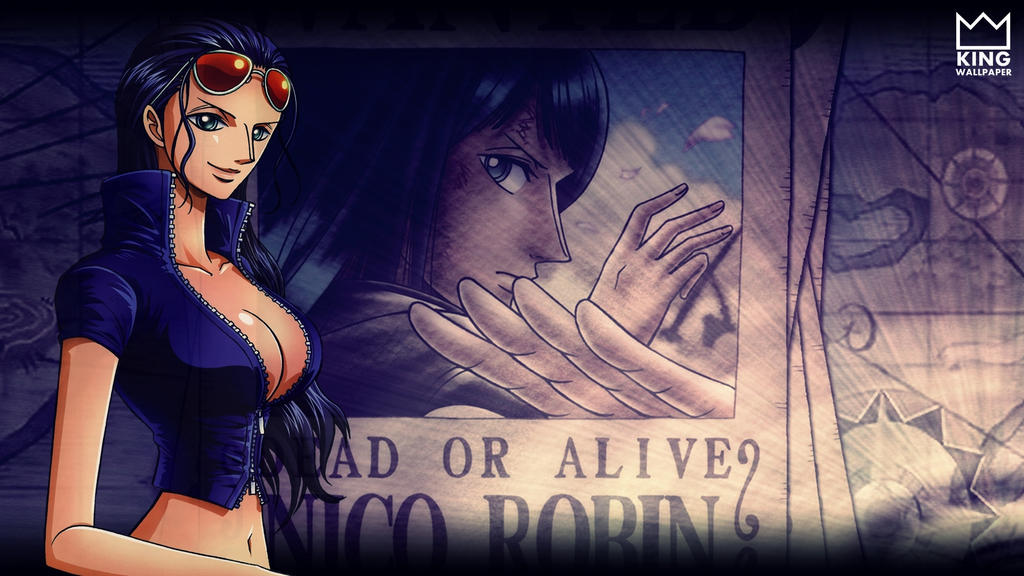 Nico Robin Wallpaper One Piece By Kingwallpaper On Deviantart