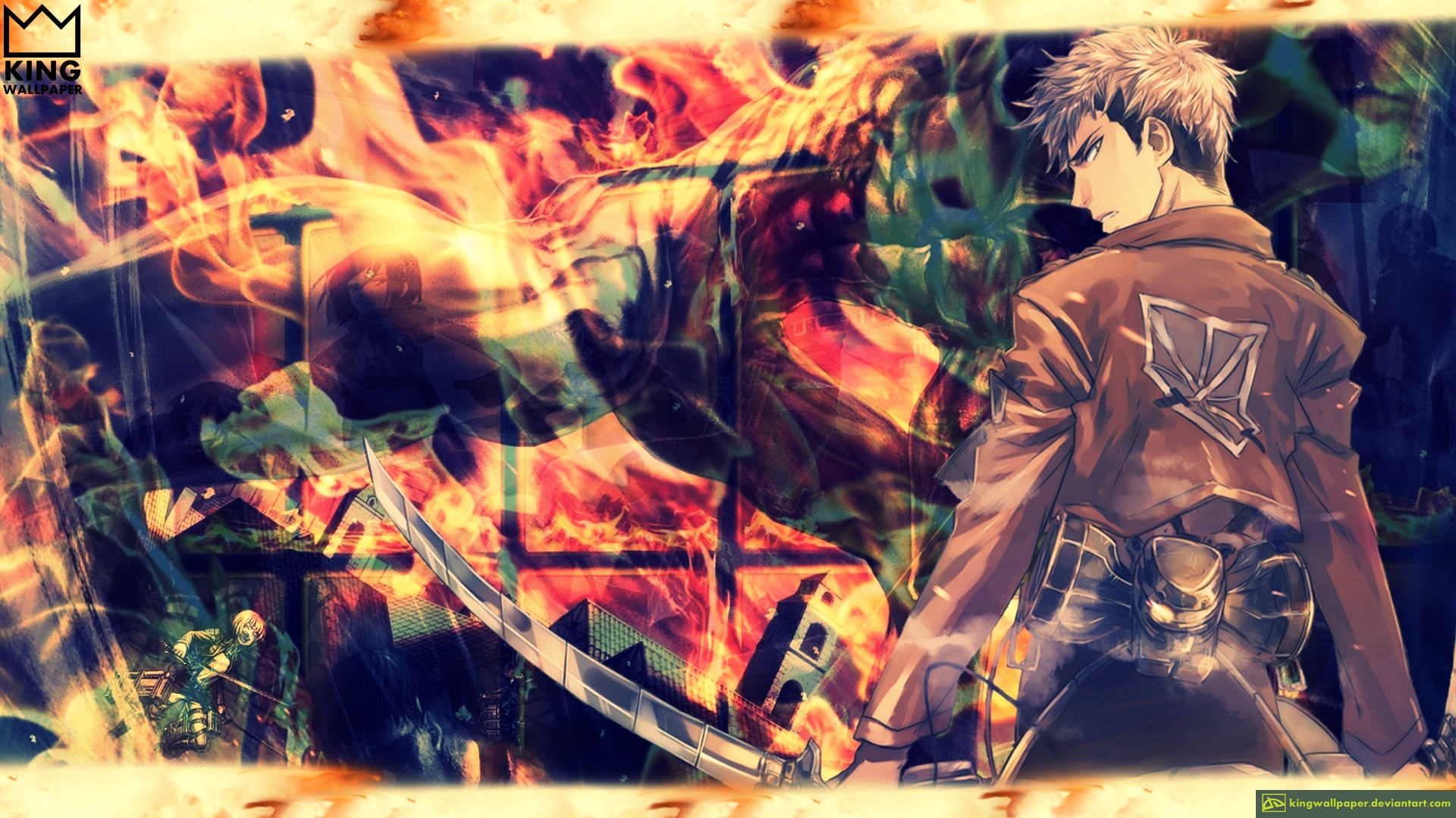 jean kirschtein wallpaper shingeki no kyojin by