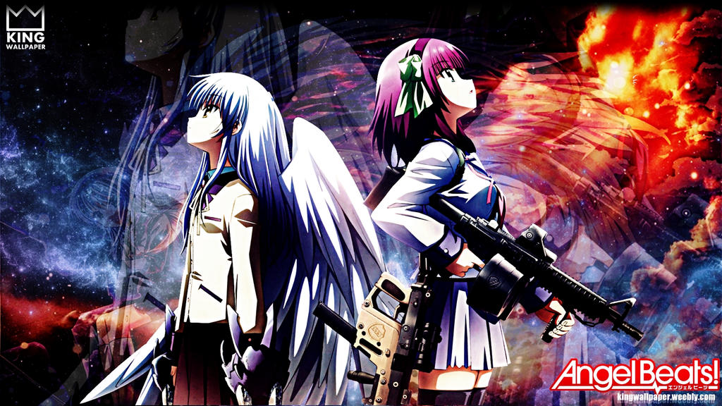 angel beats wallpaper by kingwallpaper on deviantart