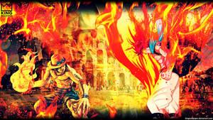 Ace vs Natsu Wallpaper