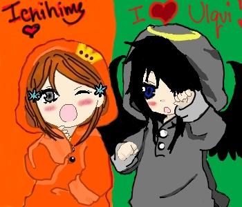 mi and orihime by borntoquit345