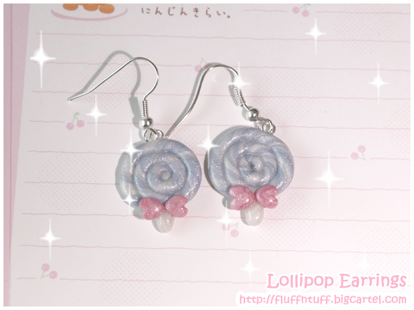 Lollipop earrings by Fluffntuff