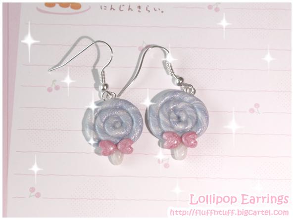 Lollipop earrings by Fluffntuff