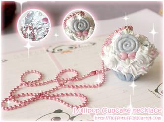 Lollipop Cupcake Necklace by Fluffntuff