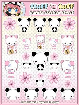 Panda Sticker Sheet