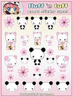 Panda Sticker Sheet by Fluffntuff