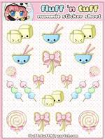 Nummie Sticker Sheet by Fluffntuff