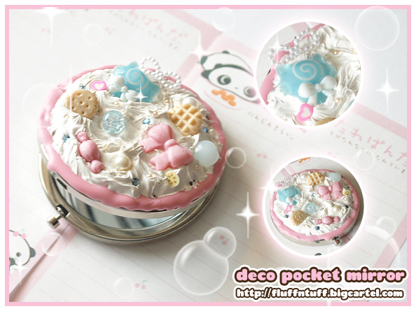 Deco Pocket Mirrors by Fluffntuff