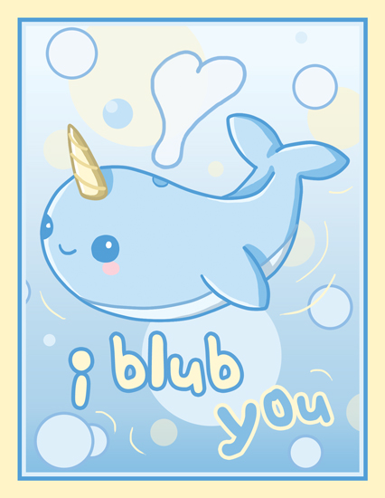 Narwhal card by fluffntuff on deviantart - Cute narwhal wallpaper ...